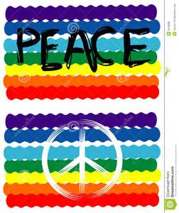 Flag with Peace Sign