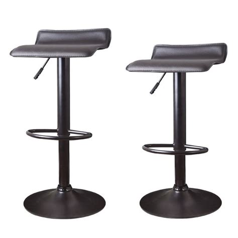 adeco hydraulic lift adjustable low back barstool with