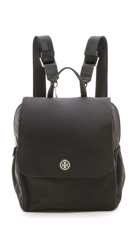 tory burch travel nylon baby backpack black  black lyst