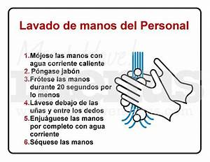 Kitchen Handwashing Procedure Sign In Spanish