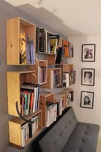 Comment Faire Une Bibliothèque : mobilier pas cher 21 id es avec des palettes en bois ~ Dode.kayakingforconservation.com Idées de Décoration