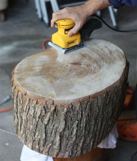 diy stump table great tips  working  raw wood