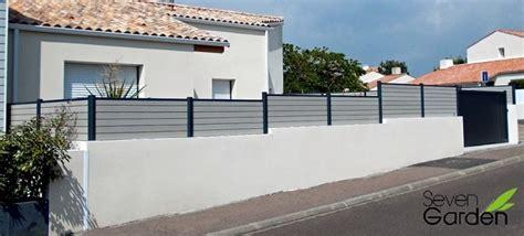 Pare Vue Sur Muret. Clture Brisevue En Aluminium Art Et Portails With Pare Vue Sur Muret. Clture ...
