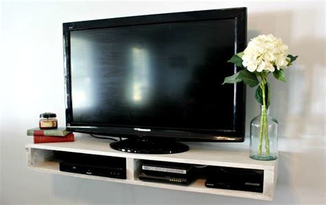 build  floating tv shelf pretty handy girl