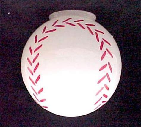 baseball ceiling fan light globe l shade 4 x 8 ebay