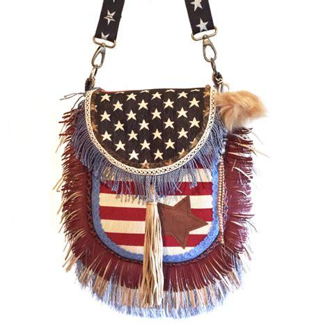 crossbody american flag fringes catena bags