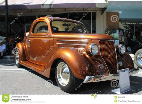 Old Ford Car At The Car Show Editorial Stock Photo