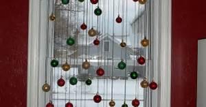 diy christmas window decoration hometalk With diy christmas curtains