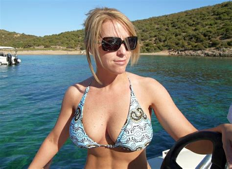 Sexy Blonde On Vacation Milf