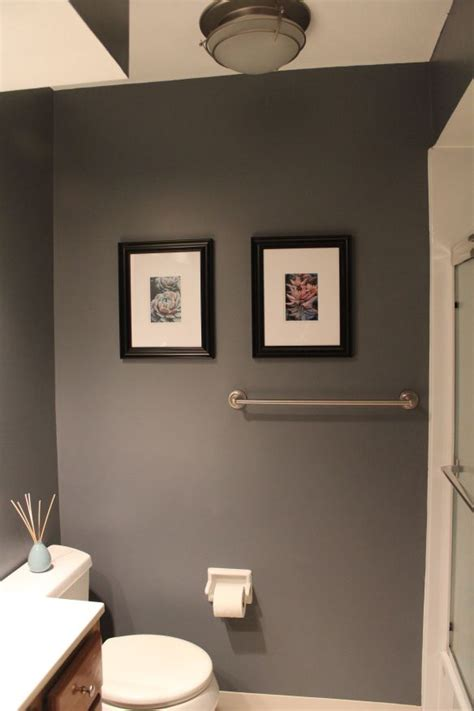 Color Paint For Bathroom Walls by Bathroom Before And After Paint Colors Grey And Gray