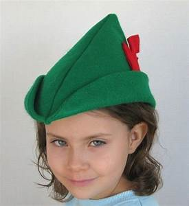 robin hood or peter pan felt hat With peter pan hat template