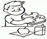 Cafeteria Coloring Template sketch template