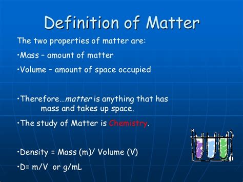 matter classification definition mass properties amount