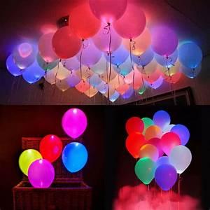 Party Deko 24 : leuchtende led luftballons geburtstag hochzeit party deko club licht ballons ebay ~ Orissabook.com Haus und Dekorationen