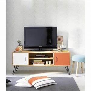 Tv Möbel Vintage : 2 t riges tv lowboard im vintage stil wei orange tv m bel vintage stil und orange ~ Sanjose-hotels-ca.com Haus und Dekorationen
