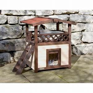 Maison Pour Chat Extérieur : maison 4 saisons deluxe maison en bois kerbl wanimo ~ Premium-room.com Idées de Décoration