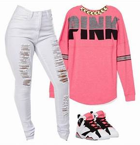 Pink. | Manhattan, Polyvore and Clothes