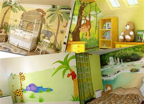 chambre theme jungle decoration chambre jungle