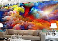 excellent abstract wall mural Art stuff   Hey Wolfie-Chan! Lookit This!