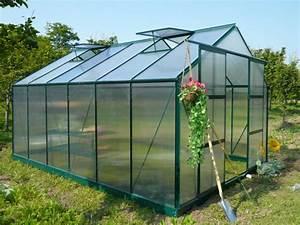 Serre En Polycarbonate Ou En Verre : serre jardin polycarbonate 13m kalida avec embase en acier ~ Premium-room.com Idées de Décoration