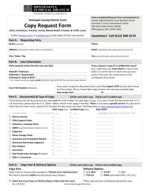 fillable mncourts copy request form for efiling