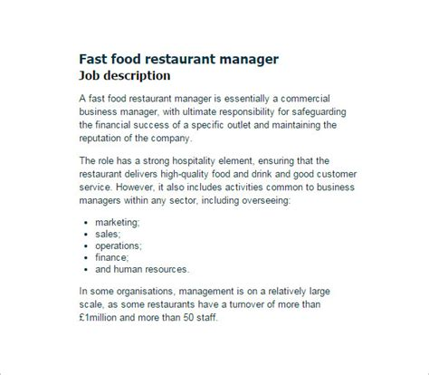 description cuisine floor manager duties restaurant thefloors co