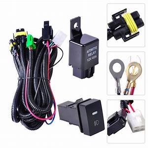Beler Wiring Harness Sockets Wire Switch For H11 Fog Light Lamp For Ford Focus Acura Tsx Nissan