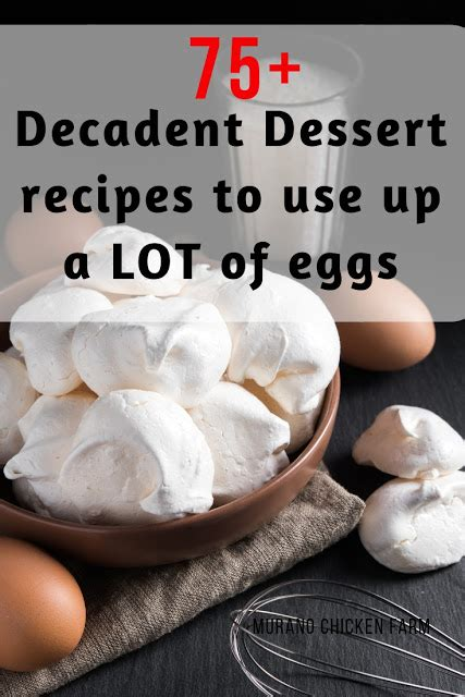 Today i thought i'd share some of the best ones i've found and tend to go back to time. 75+ Dessert recipes to use up extra eggs | Dessert recipes ...