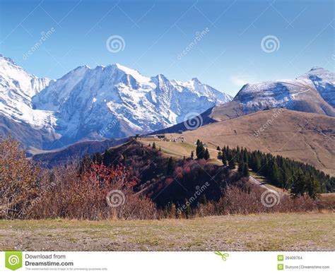 a terra de mont blanc alpes franceses imagens de stock imagem 26409764