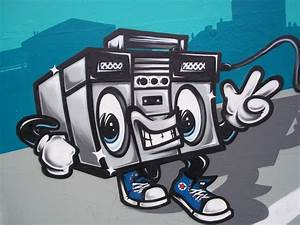Top Boombox Graffiti Drawings Images for Pinterest Tattoos