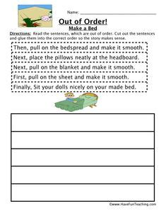 sequencing activity worksheets  images sequencing