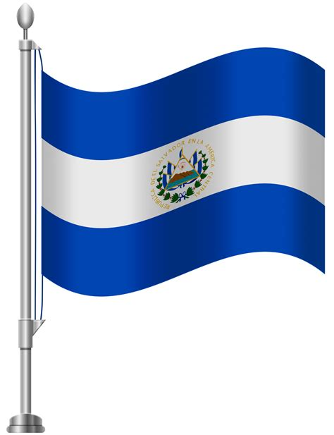 El Salvador Flag Logo Clipart Vector Design