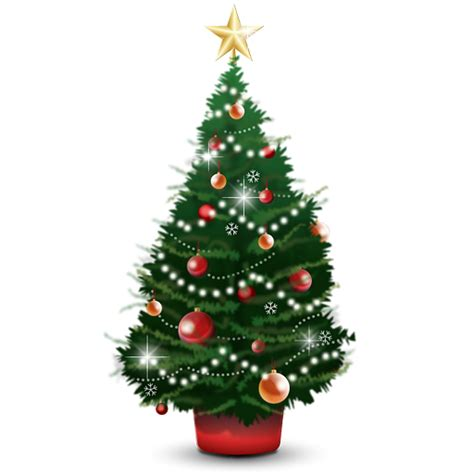 christmas tree icon christmas set merry christmas star