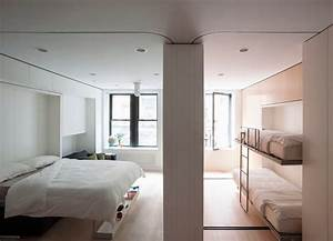 Hidden Bunk Bedroom Traditional With Bunk Bed White