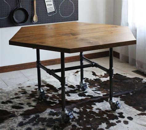 diy industrial dining table how to make a diy industrial geometric dining table man