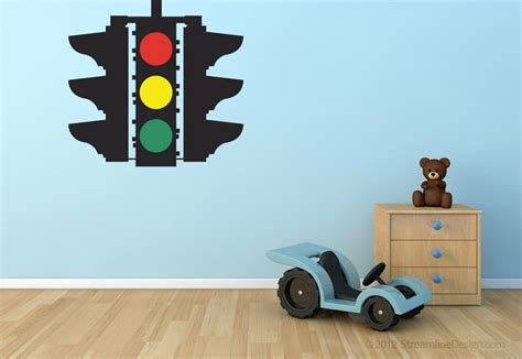 Stop Caution Go Traffic Light Removable Vinyl Wall Art