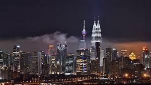 바탕 화면 다운로드 1920x1080 쿠알라 룸푸르, 말레이시아, 밤 도시, 건물, 고층 빌딩 풀 HD ...