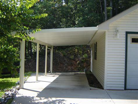 Add Garage Door To Carport by Carports Added Onto House Image Pixelmari