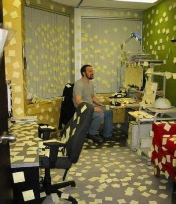 office post  notes prank funny pictures entertainment