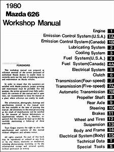 1980 Mazda 626 Repair Shop Manual Original