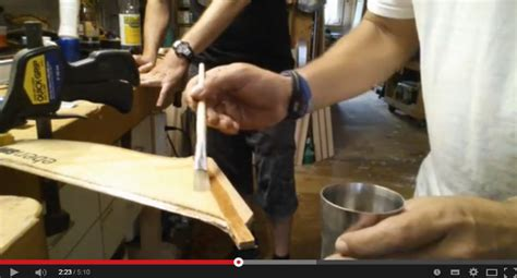 holzpaddel selber bauen workshop teil 3 finne laminieren standup pages sup