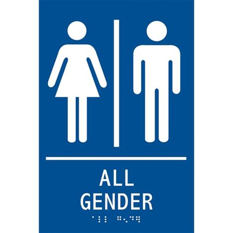 Gender Neutral Bathroom Signs by Ada Braille Tactile Gender Neutral Restroom Sign All Gender