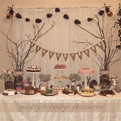 country rustic baby shower rustic baby shower deer theme