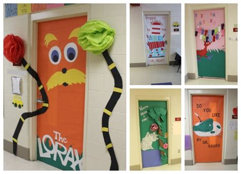Dr Seuss Door Decorating Contest Ideas by Dr Seuss Centers And Activities For The Library During Dr
