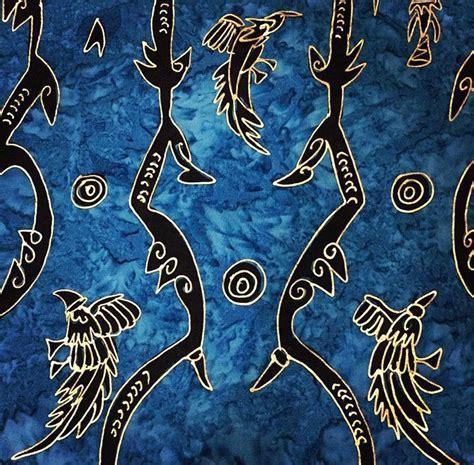 batik papua indonesia dasar biru seni menggambar