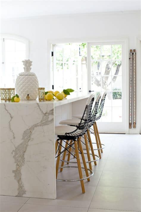 bar comptoir cuisine le plan de travail en marbre archzine fr