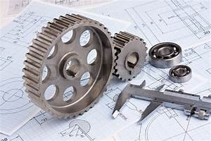 Technical drawing and pinion with bearings | Stock Photo ...
