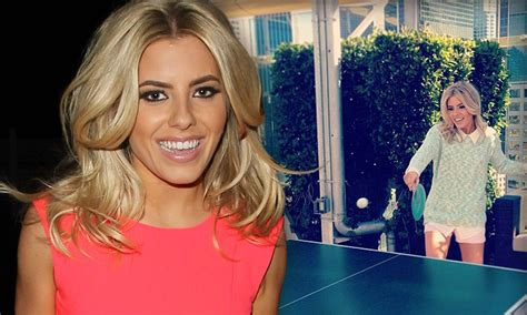 Mollie King Tweets A Candid Photo Of Herself Playing Table