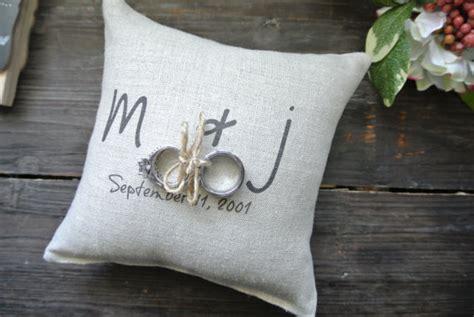 personalized ring bearer pillow custom ring bearer pillow
