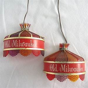 Vintage old milwaukee wall sconce beer light set of two